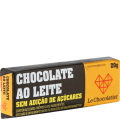 Le Chocolatier Barrinha ao Leite S/ Add Açucar