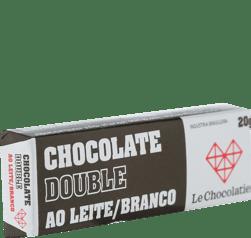 Le Chocolatier Barrinha Double - Ao Leite e Branco