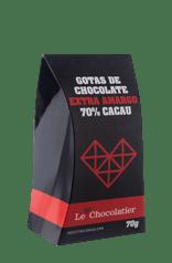 Le Chocolatier Gotas de Chocolate Extra Amargo 70g