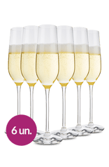 WineBox Taça De Cristal Para Espumante Schott Zwiesel Fortissimo 240 Ml