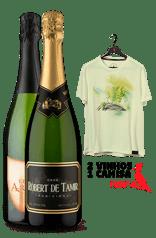 WineBox Espanhóis + Camiseta Amarela Aquarela Espanha P