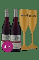 WineBox Duo Oxford Estates Shiraz + Taças