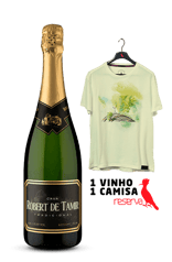 Espumante Robert De Tamir Reserva D.O. Cava Brut + Camiseta Amarela Aquarela Espanha M