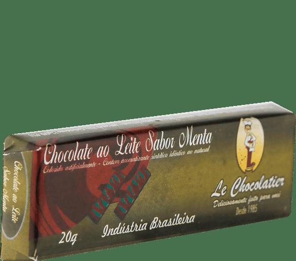 Le Chocolatier Barrinha ao Leite com Menta