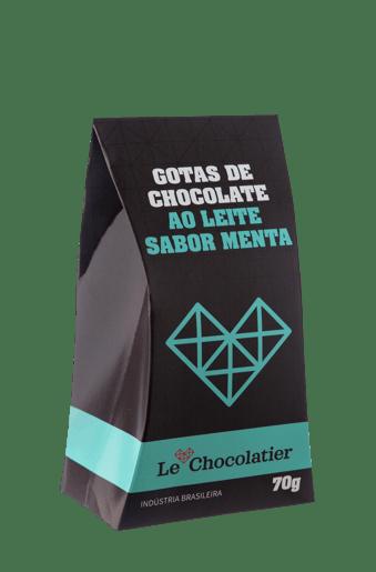 Le Chocolatier Gotas de Chocolate ao Leite com Menta 70g
