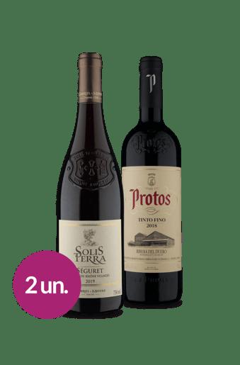 Kit Seleção Tintos França & Espanha (2 garrafas)