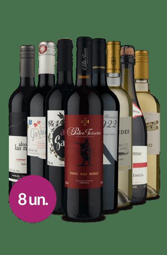 Kit Diversidade de Uvas (8 garrafas)