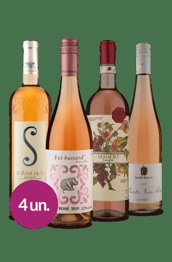 Kit Rosés Europeus (4 garrafas)