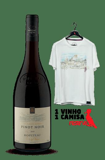 Vinho Ropiteau Frères Les Plants Nobles + Camiseta Off-White Aquarela França GG