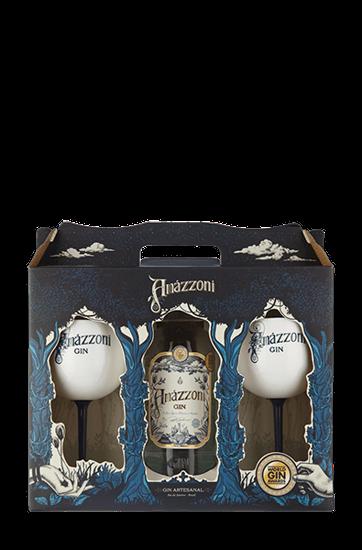 Kit Gin Amázzoni com Duas Taças de Acrílico
