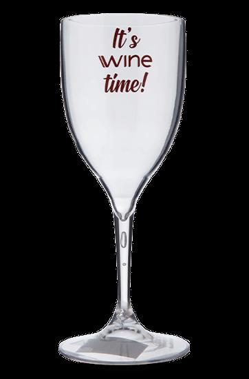 Taça de Acrílico It's Wine Time