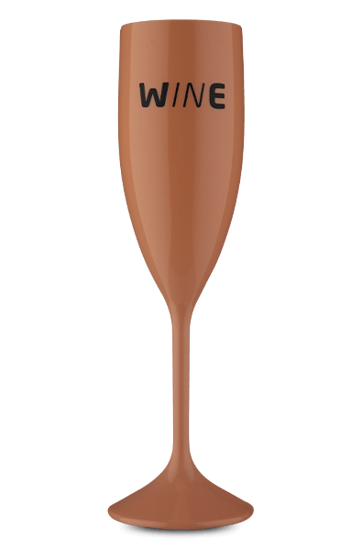 Taça Acrílico Espumante Wine  Salmão 210 ml