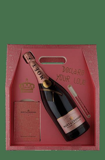 Champagne Moët & Chandon Impérial Rosé Brut Magnum 1,5 L com Love Case