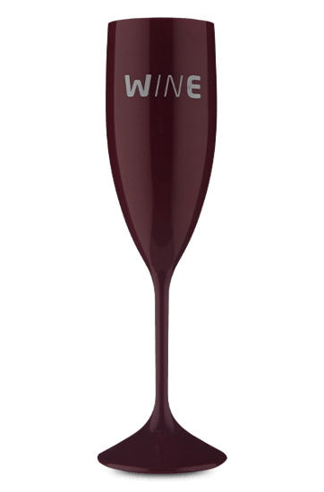 Taça Acrílico Espumante Wine  Bordô 210 ml