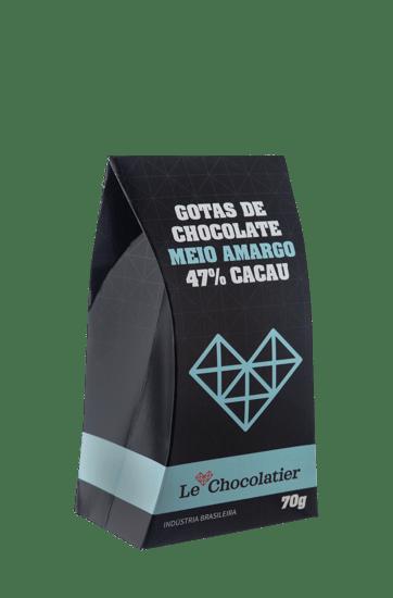 Le Chocolatier Gotas de Chocolate Meio Amargo 70g