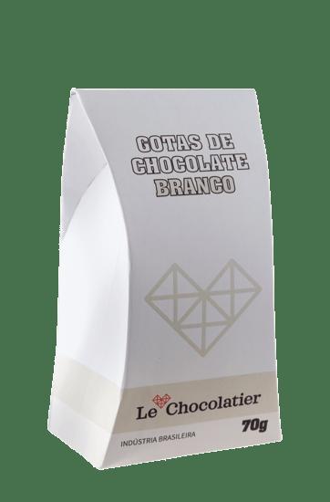 Le Chocolatier Gotas de Chocolate Branco 70g