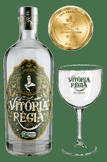 Kit Gin Vitória Regia com Taças