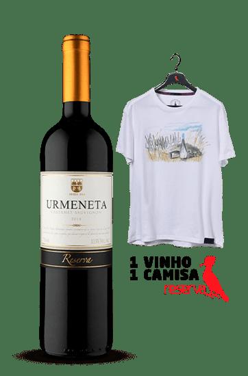 Vinho Urmeneta Reserva Cabernet Sauvignon 2018 + Camiseta Lilás Aquarela Chile G