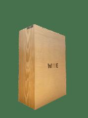 Caixa para 2 Garrafas Madeira Pinus Crú