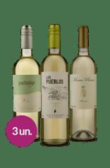 Kit Brancos Mosen, Partridge e Los Pueblos (3 garrafas)