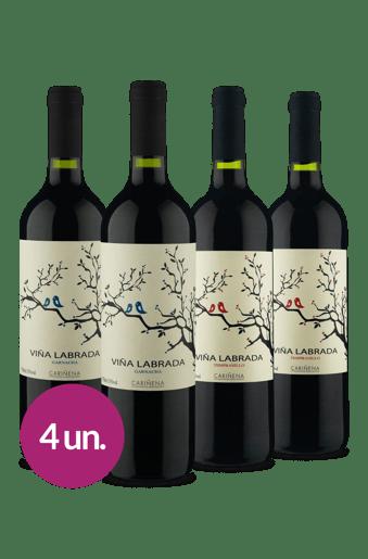 Kit Viña Labrada Mix Uvas (4 garrafas)