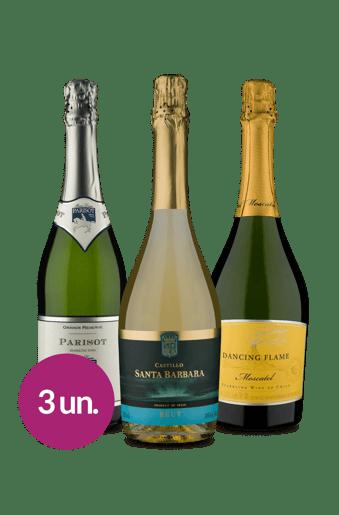 Kit Espumantes Wine (3 garrafas)
