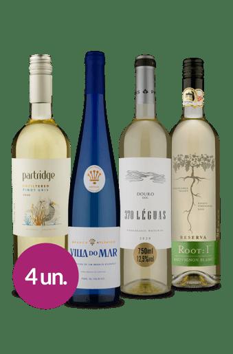 Kit Tintos Portugal, Chile e Argentina (4 garrafas)