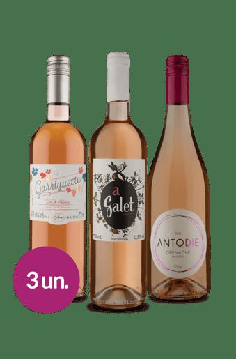 Kit Rosés Queridinhos Wine (3 garrafas)
