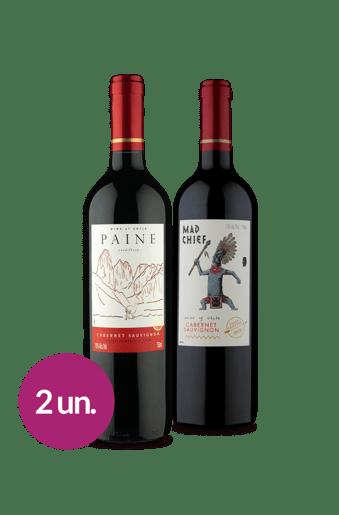 Kit Cabernet Sauvignon: Paine e Mad Chief (2 garrafas)