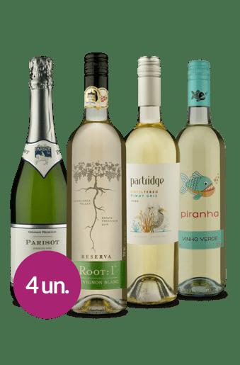 Kit Brancos & Espumante Mundiais (4 garrafas)