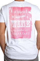 T-Shirt Masculina A Meal Without Wine Is Called Breakfast P