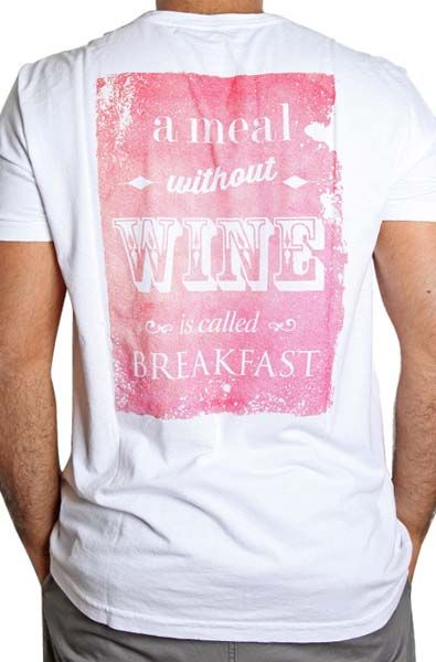 T-Shirt Masculina A Meal Without Wine is Called Breakfast GG