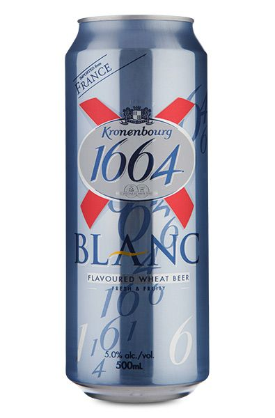 Kronenbourg 1664 Blanc Wheat Beer Lata 500 ml