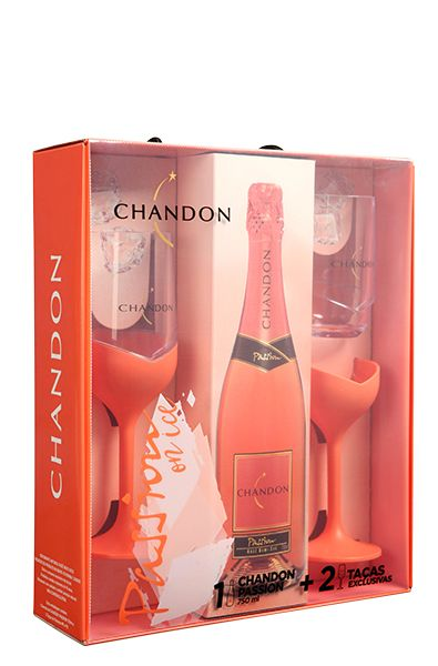 Espumante Chandon Passion Rosé On Ice com 2 Taças Exclusivas