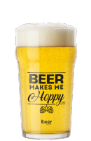 Copo Cerveja Nonik Pint (Beer Makes me Hoppy) - 600ml