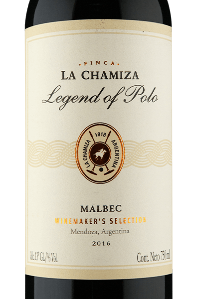Finca La Chamiza Legend of Polo Winemaker's Selection Mendoza Malbec 2016