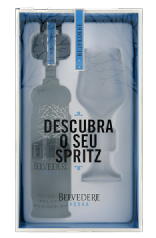 Vodka Belvedere Pure 700ml com Spritz Glass