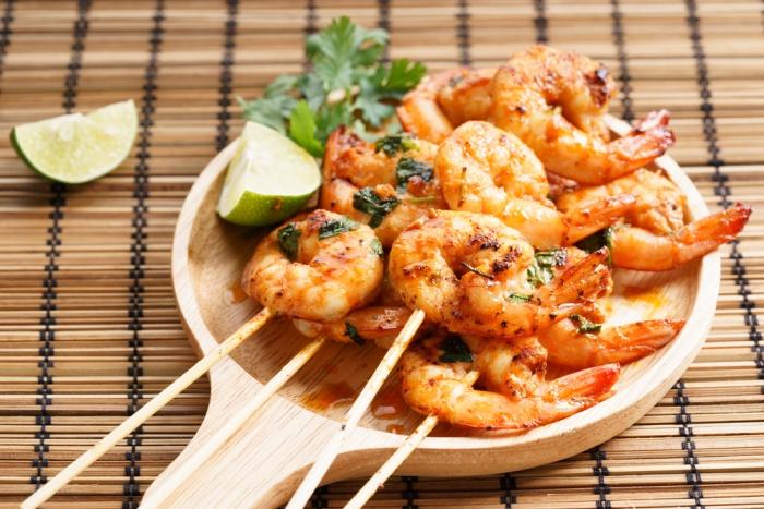 Espetinhos de camarão | Winepedia